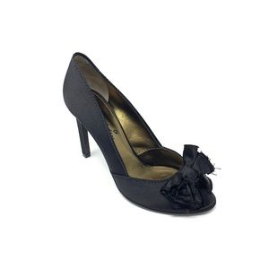 LANVIN Satin Bow-Accented Pumps